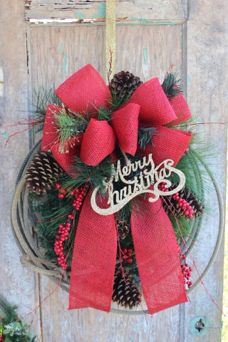 Western Country Christmas Wreath