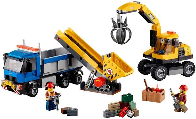 Bộ xếp hình Lego City 60075 Bộ Đôi Xe Đào Đất và Xe Ben Excavator and Truck