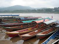 Crossing the Mekong border to Laos from Chiang Khong