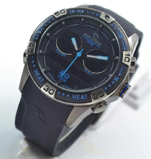 jam tangan Ripcurl orbit double time black rubber blue