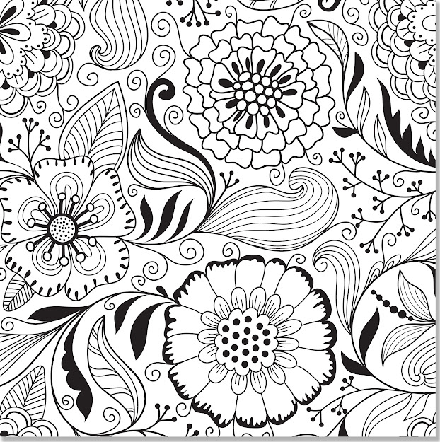 Abstract Flowers Coloring Pages Advanced