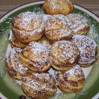 Danish Aebleskivers (Round Stuffed Pancakes) Gluten-free.