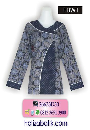 model baju terbaru, blus batik, batik modern
