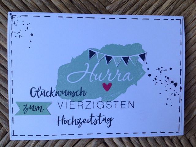 Vierzigster Hochzeitstag   Stempeltrina Eine Karte Zum 40 Hochzeitstag