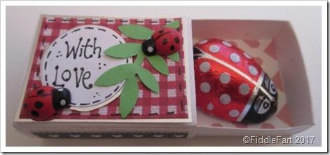 Valentines Day Ladybird Matchbox