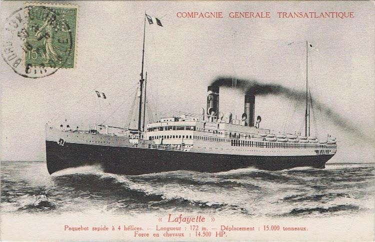 3-Bonita acuarela del LAFAYETTE en donde se aprecia la clasica construcción francesa en puente y proa. Colección Arturo Paniagua.jpg