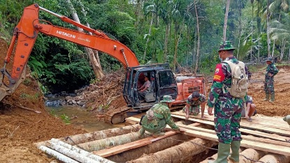Kepedulian TNI   di TMMD Kodim Tapsel  Ikut Serta Pemerataan Pembangunan