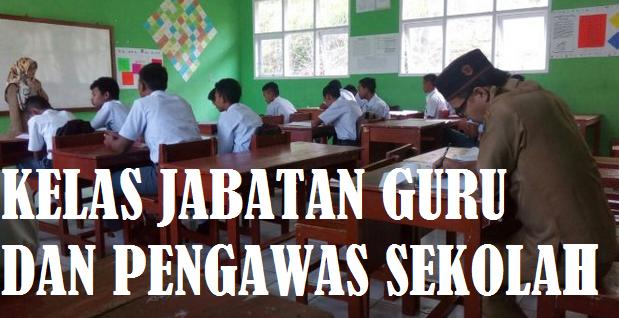 Kelas Jabatan Fungsional Guru dan Pengawas Sekolah