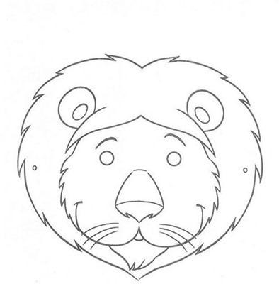 LEONmascara de animales  para colorar (82)_thumb