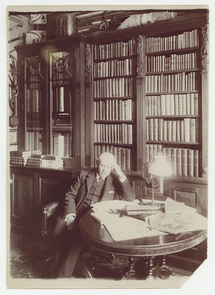 Sticht in his library at Penghana, Queenstown