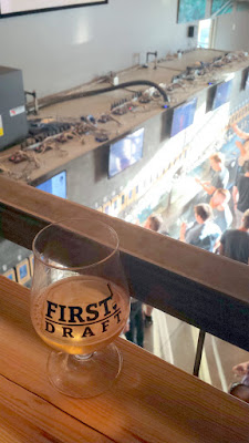 Pour however little or much beer you'd like for yourself at First Draft in Denver, Colorado