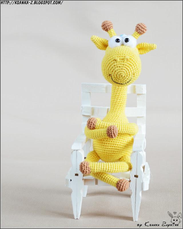 как связать игрушку жирафик спицами