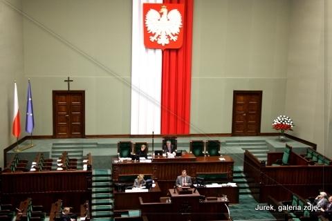 Sala obrad Sejmu RP.