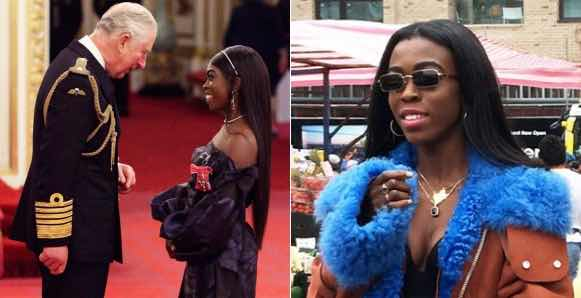 Daughter Of Ex-Governor Of Oyo State, Grace Ladoja Receives An MBE From The Prince Of Wales