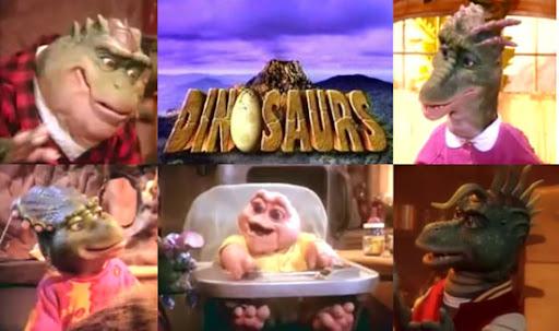 """La familia protagonista de """"Dinosaurios"""", otro éxito de Jim Henson en los '90"""