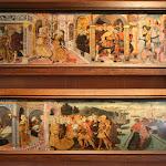 Château d'Ecouen : paire de panneaux de cassoni (Histoire de Lucrèce et Le départ d'Ulysse)Tarquin et