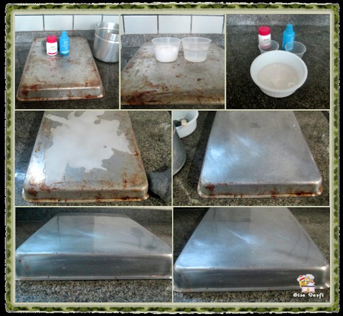 Restaurando assadeiras de alumínio 3