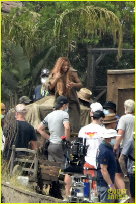 Halle Bailey film shoot for The Little Mermaid