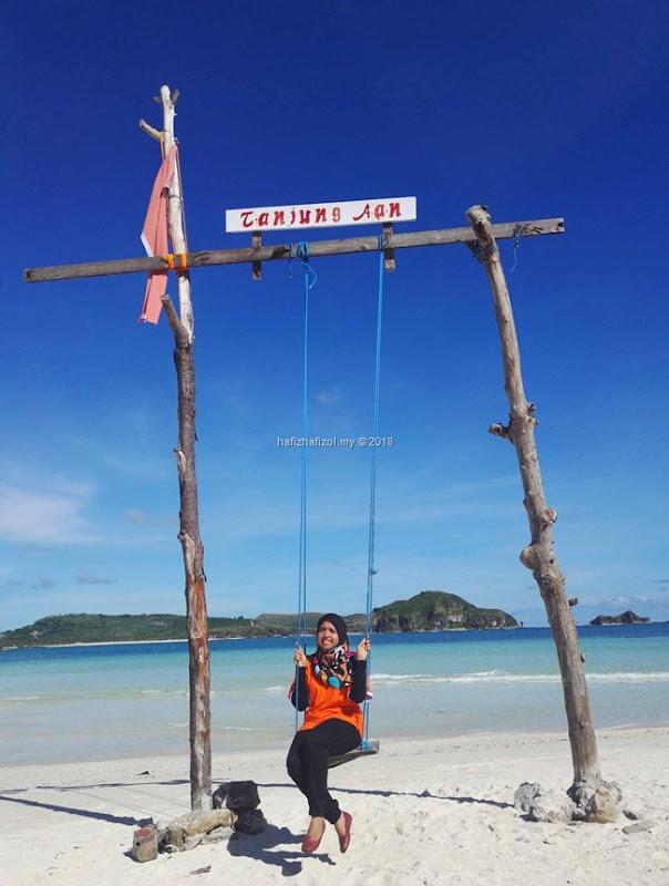 gambar buai di Tanjung Ann Lombok