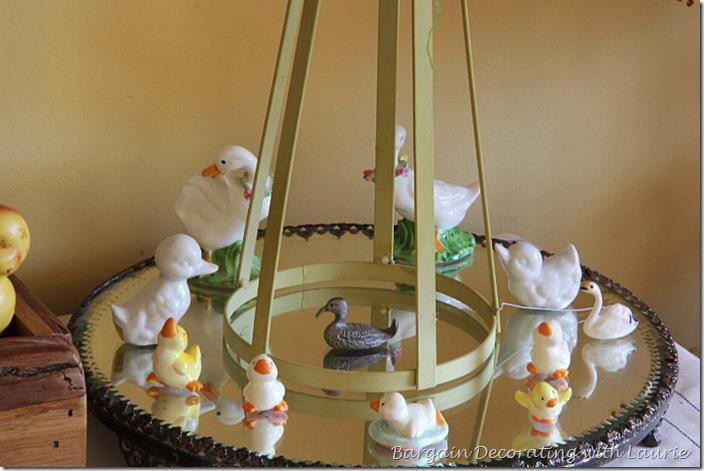 Easter Ducks Swimming in Pond