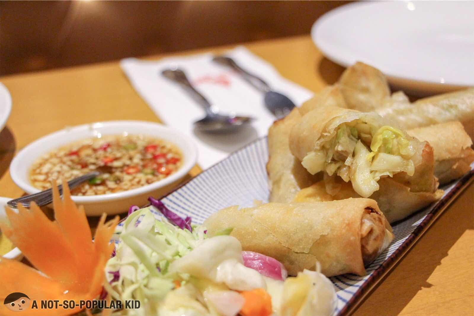 Spring Rolls of Thai BBQ in Glorietta, Makati