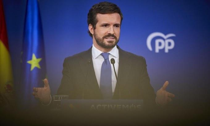 Casado la vuelve a liar, exige explicaciones a Sánchez sobre la entrada «irregular» del presidente saharaui.