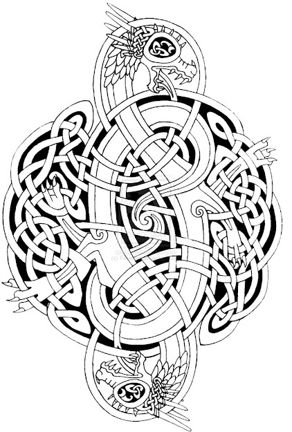 Images For  Celtic Dragons Art Celtic Mandala Coloring Pages