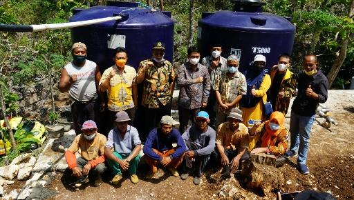 Anggota DPR RI Gandung Pardiman Atasi Krisis Air Bersih Di Ponjong Dengan Pipanisasi