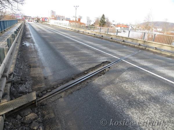 Oprava dilatácií mosta cez Hornád na Ukrajinskej ulici v Krásnej