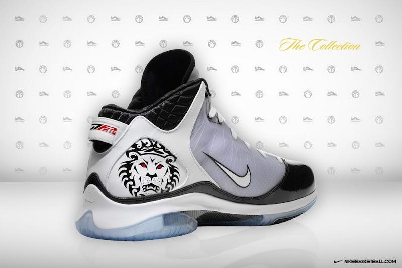 Nike LeBron VII (7) P.S. 408758-101 White/Black-Sport Red | NIKE LEBRON -  LeBron James Shoes