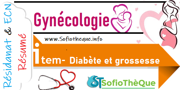 Cours PDF résumé : Diabète et grossesse