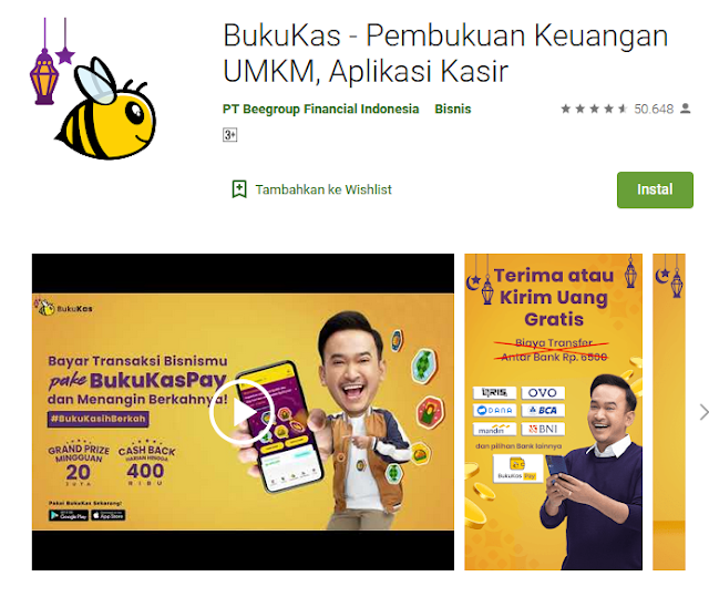 Aplikasi BukuKas Di Google Play Store