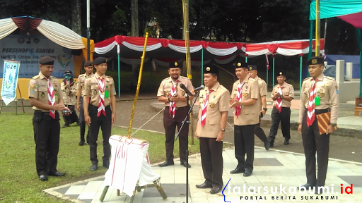 Perkemahan Sepuluh Nopember Kwarcab Sukabumi di Palagan Perjuangan Bojongkokosan