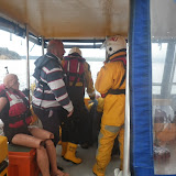 Poole onboard Dolphin III in a medical training exercise -  22 April 2014 Photo: RNLI Poole/Anne Millman