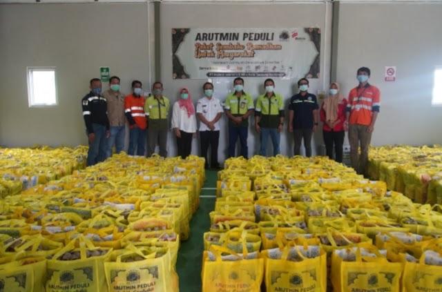 1000 Paket Sembako untuk Masyarakat Lingkar Tambang Arutmin Asamasam