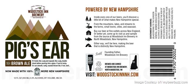 Woodstock Inn Brewery - Pig's Ears Cans