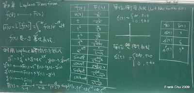 Laplace Transform的定義及基本函數之拉氏轉換