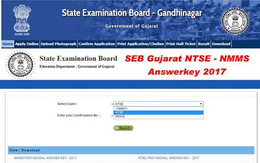 SEB NMMS & NTSE (Scholarship Exam) Answer key