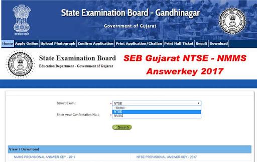 SEB NMMS & NTSE (Scholarship Exam) Answer key