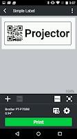 Screenshot of Brother iPrint&Label
