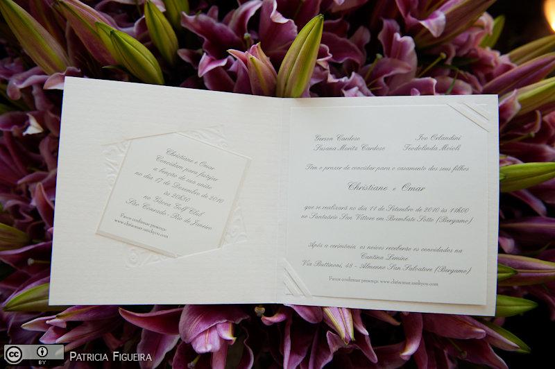 Foto de casamento 0041 de Christiane e Omar. Marcações: 17/12/2010, Casamento Christiane e Omar, Convite, Convite de Casamento, Paradiso delle Bomboniere Italia, Rio de Janeiro.