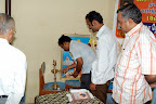 Shri.M.J.Gopinath, Camp Co-Ordinator lighting the lamp :: Date: Feb 17, 2008, 10:45 AMNumber of Comments on Photo:0View Photo
