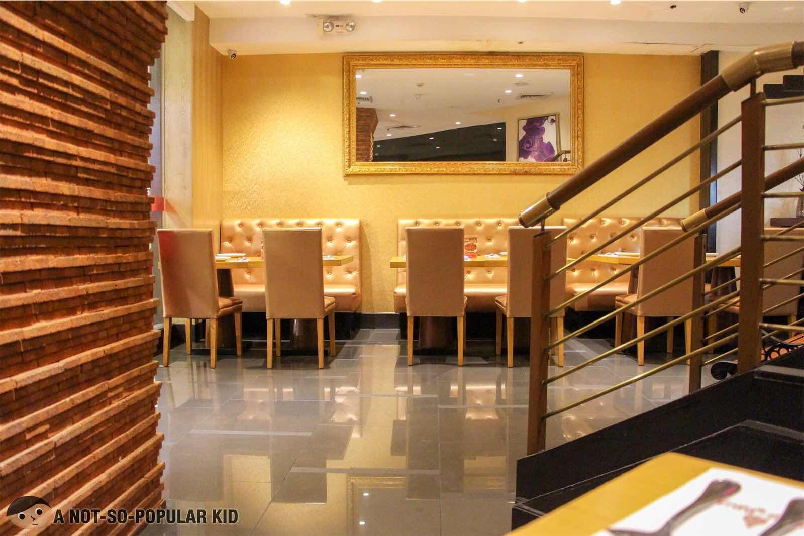 Interior of Thai BBQ in Glorietta, Makati