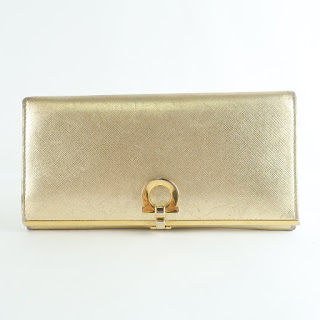 Salvatore Ferragamo Gold Wallet