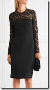 Stella McCartney Lace Trimmed Stretch Crepe Dress