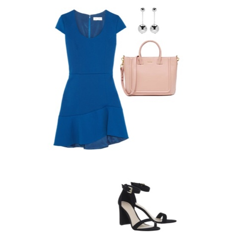 dress heels earrings purse mom mother outfit summer fashion date night top mom mommy blogger