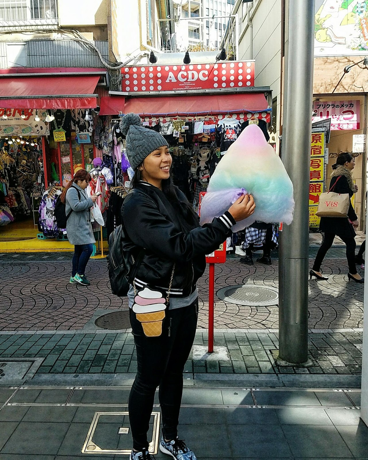 japan tokyo travel guide ootd bag me baby cotton candy
