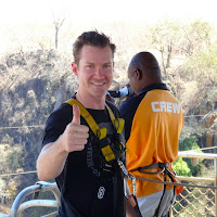 David ready to bungee