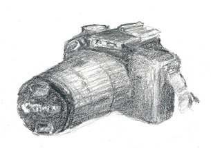 Canon 1100D in soft pencil