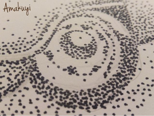 Dibujo-puntos-blanco-y-negro